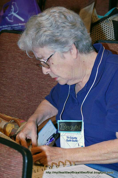 Our ever faithful treasurer had at work before the guild meeting<br /> Carrol Stewart