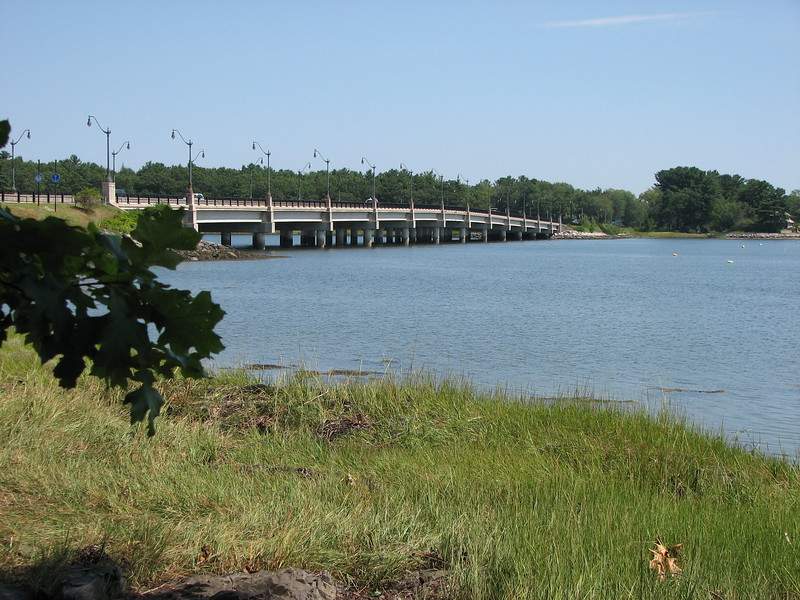 View of the Alexander Scammell Bridge, from the Durham side of the river