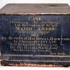 In the attic at Westminster Abbey is this case which was used to transport the remains of Major John Andre to England for his permanent entombment.