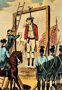 Drawing of the execution of Major Andre