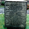 "The monument erected at the site of Andre's execution. The inscription reads:<br /> <br /> ""Here died October 2, 1780 Major John Andre, of the British Army, who, entering the American lines on a secret mission to Benedict Arnold for the surrender of West Point, was taken prisoner, tried and condemned as a spy. His death, although according to the stern code of war, moved even his enemies to pity and both armies mourned the fate of one so young and so brave. In 1821, his remains were removed to Westminster Abbey. A hundred years after his execution this stone was placed above the spot where he lay by a citizen of the United States against which he fought, not to perpetuate the record of strife, but in token of those better feelings which have since united two nations one in race, in language and in religion, with the earnest hope that this friendly union will never be broken."" Arthur Penrbyn Stanley, Dean of Westminster"