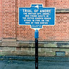 Historical marker at the church