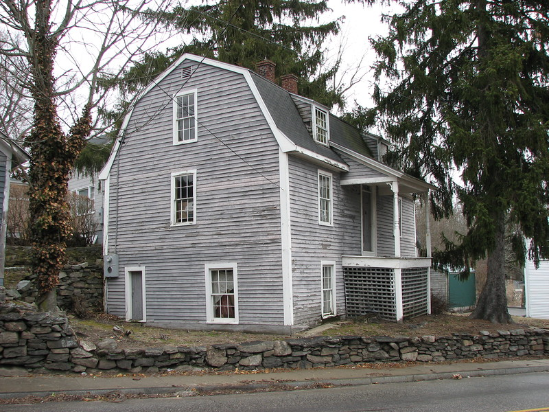 Another view of the home. It sits on a triangular lot at Town Street and Old Cemetery Lane.