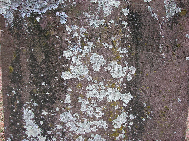 Inscription on Diah Manning's stone