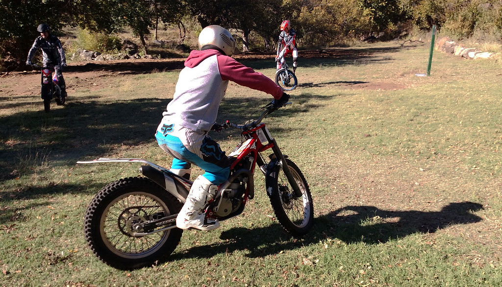 Photo - Saturday - Mark, Lawson, & Ray Practice Flat Turns