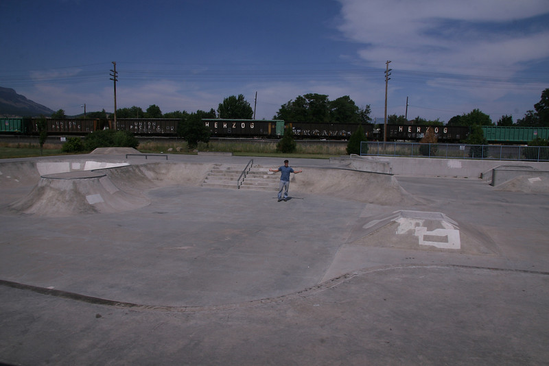 La Grande, OR has a place called Pioneer Park which includes a small wheels park.  Nice little place that's clean with good kids around.