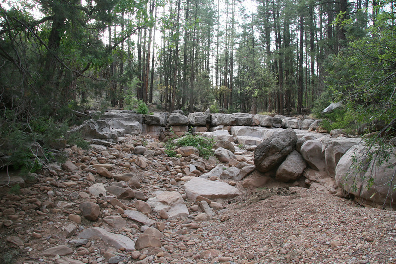 There's all kinds of stuff to ride in this stream bed wash.