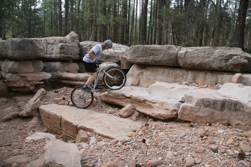 Getting the front wheel up first is important.
