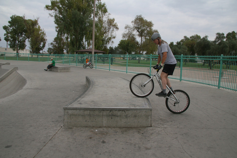 This front wheel placement leads me into a kick up.  That's the one I forgot to mention in the last frame.