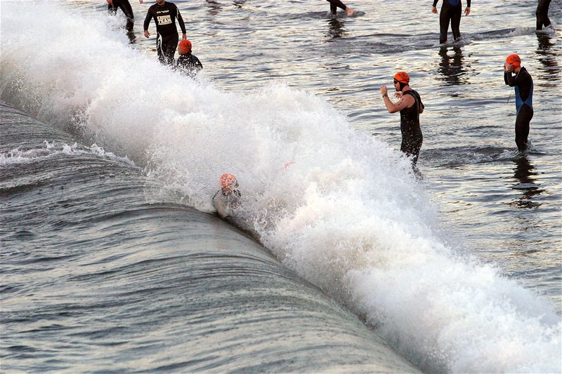 Getting wet before the start