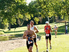 """Yvon on the first lap of the two lap running course, preparing to throw his shirt at Jill. """"Too warm!"""""""