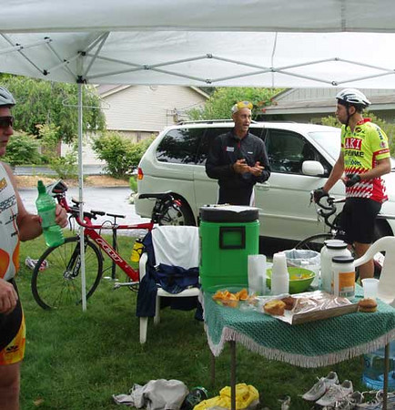 Ryan talks with Greg Worrel about the bike route.