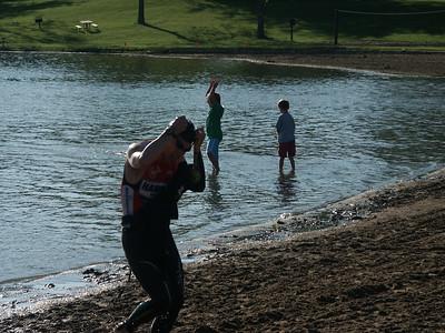 Rawwwwrrrrrr!!!...says Mike as he exits the water like Godzilla.