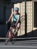 Veroncia cruises through the bike ride.
