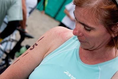 Pre-race body marking