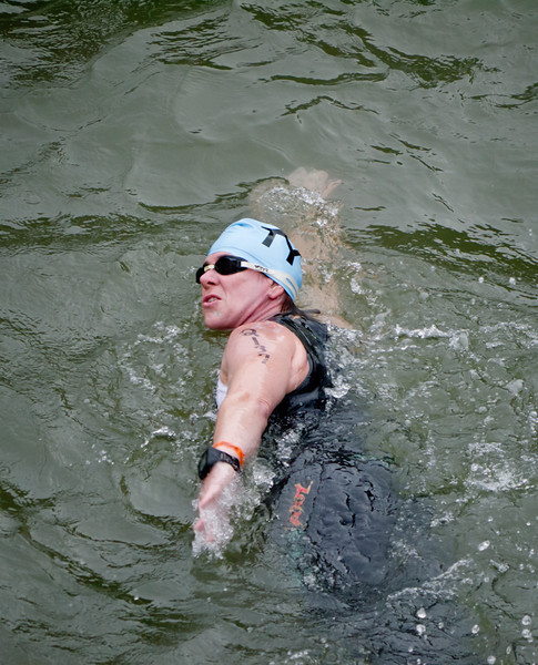 It looks hard, but swimming is fun!
