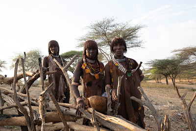 The peoples of the Omo Valley are highly varied.  Each tribe is proud of its people and its culture.  These women are Hamar tribe