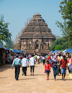 Walkway to the temple, 13th Century temple, Konark Sun Temple.