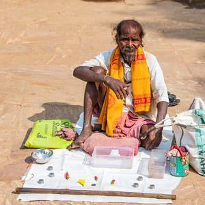 Vendor at Konark Sun Temple.