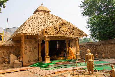One of a multitude of Pandals(temporary temples) used during the week long celebrations of Durga Puja.