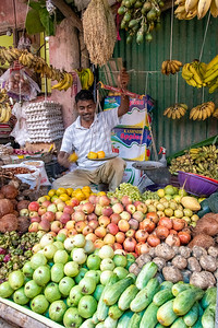 Retail food market. Always a lot of fun. Many vendors give us samples, fruits, nuts and flowers.