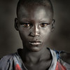 Portrait of a Dinka boy