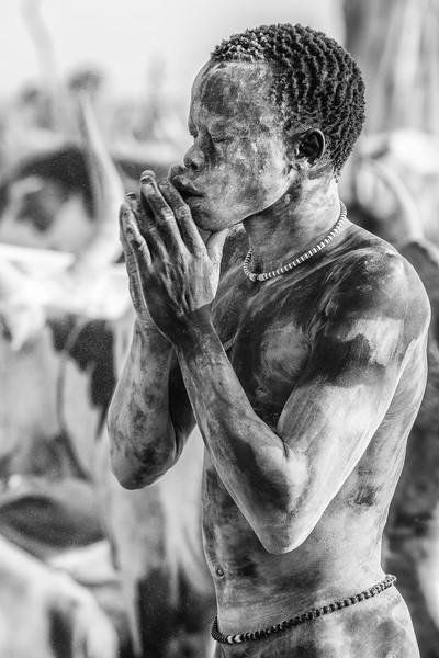 Ashen faced Mundari tribesman