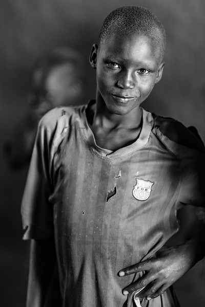 Dinka children, Near Bor