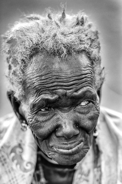 Old Boya lady near Torit, South Sudan