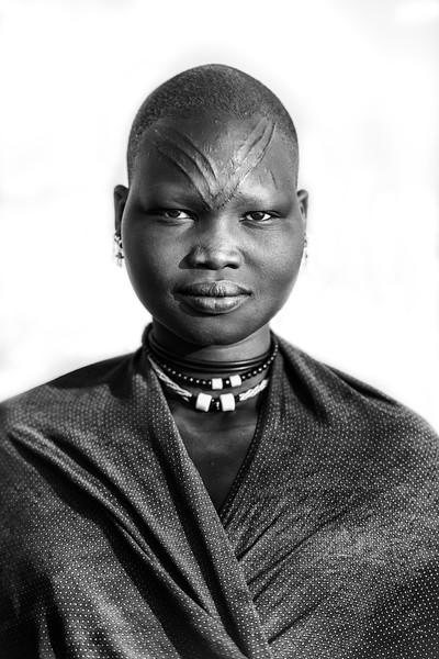 The V scars on a Mundari girl, Terekeka