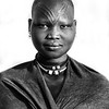 The V scars on a Mundari girl, Terekeka