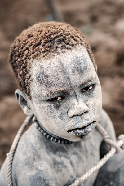 Mundari boy with tether