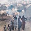 Mundari women and children