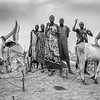 Dinka and their cattle camp