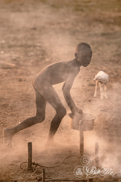 Gathering the ash