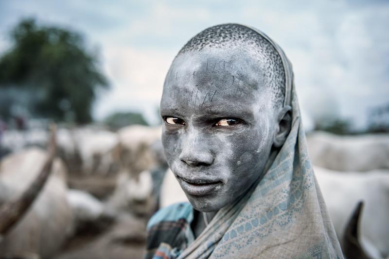 Young Mundari herder
