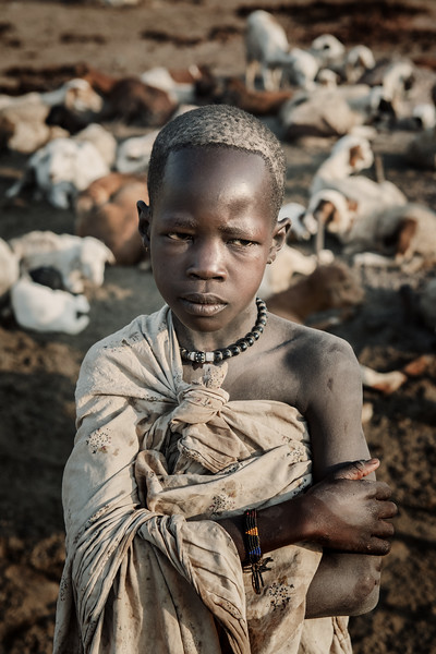 Mundari shepherd boy