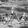 Mundari children Using the ash