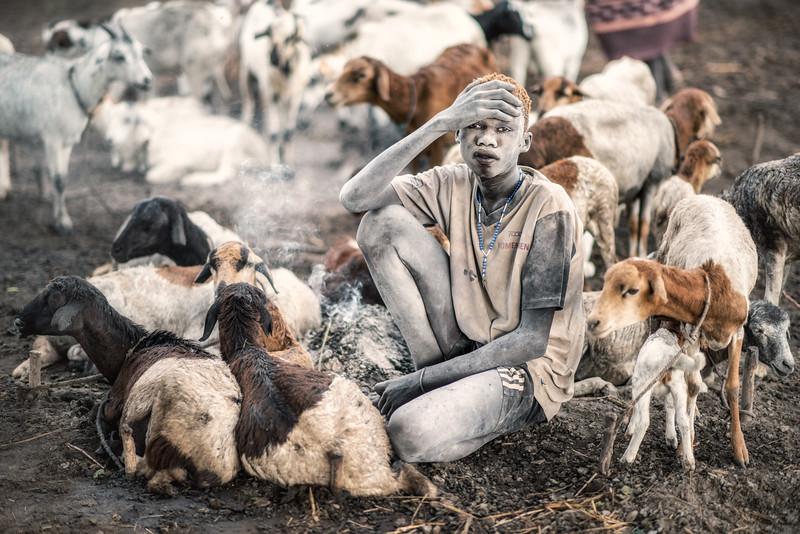 Mundari with his sheep