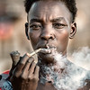 Boya tribes woman smoking