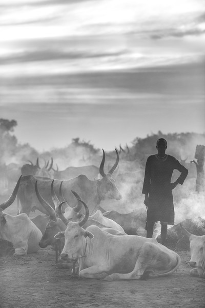 The end of the Dinka day in Bor