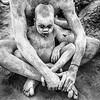 Baby Mundari covered in ash, Terekeka