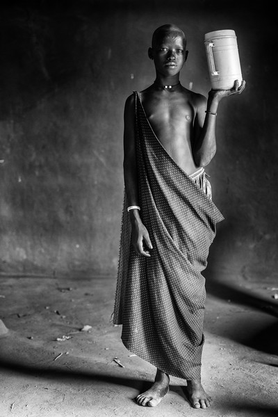 Young Mundari girl, Terekeka, South Sudan