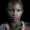 Portrait of a young Dinka boy