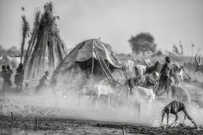 Dust and smoke in the camp, Terakeka