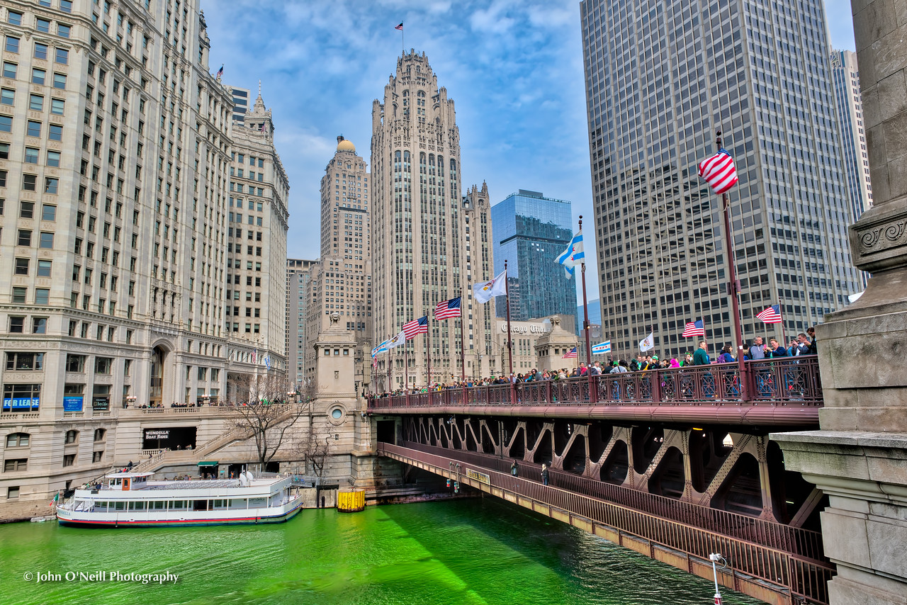 Trib Tower on Saint Patrick's Day