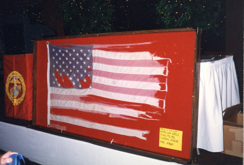 American Battle Flag flown at Khe Sanh during the 77-day seige
