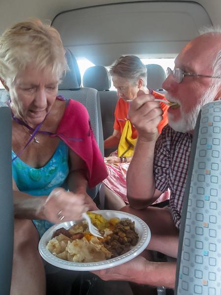 Sharon and Bill Enjoying Lunch