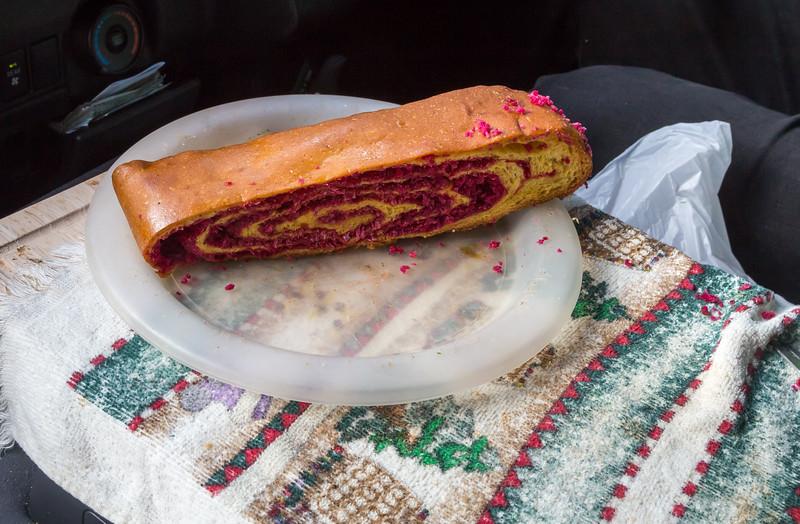 Coconut Balerina – rolled red cake
