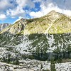 looking towards Sawtooth Mtn. 7,750ft. Trinity Alps Wilderness